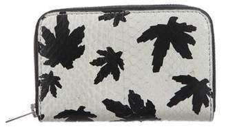 Alexander Wang Snakeskin Compact Wallet