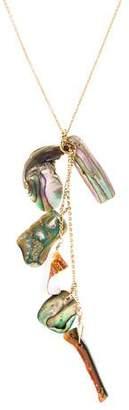 14K Abalone & Shell Necklace