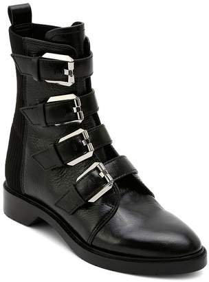 152cd11a5 Dolce Vita Women's Gaven Buckled Leather Combat Booties