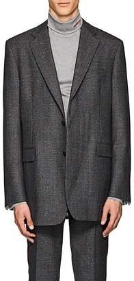 Calvin Klein Men's Plaid Wool Two-Button Sportcoat