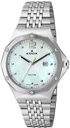 Edox Women's 54004 3M NAIN Delfin Analog Display Swiss Quartz Silver Watch