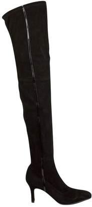 Salvatore Ferragamo Black Suede Boots