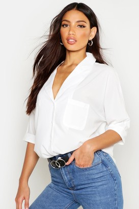 boohoo Revere Collar Oversized Shirt