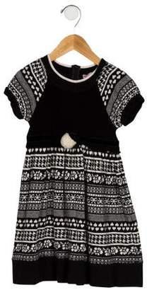 MonnaLisa Girls' Intarsia Knit Dress