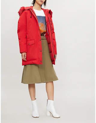 Kenzo Faux-fur wool-blend parka coat