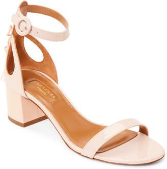 Aquazzura Blush Pixie Tassel Patent Ankle Strap Sandals