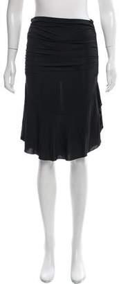 Blumarine Ruched Knee-Length Skirt
