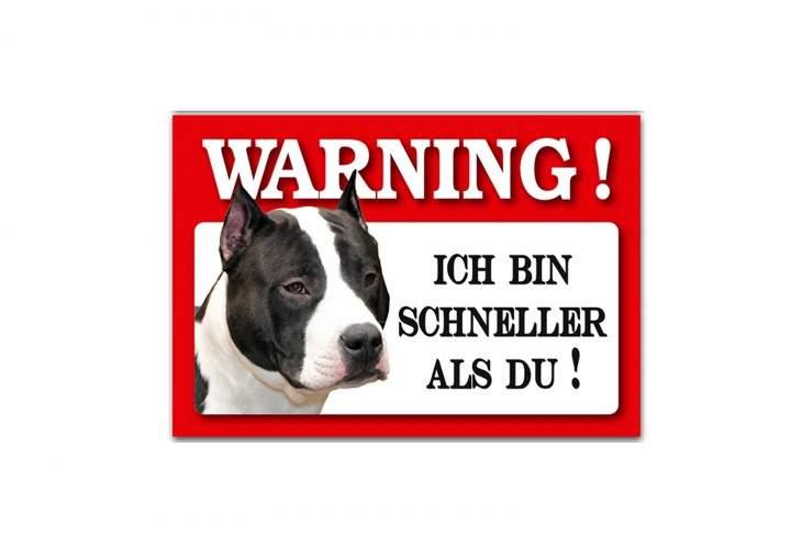 HTI-Line Staffordshire Bullterrier Blechschild Wachhund