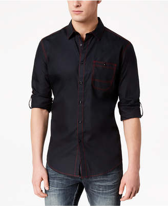 INC International Concepts I.n.c. Men's Top-Stitch Pocket Shirt, Created for Macy's
