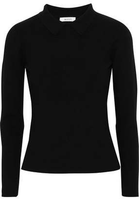 Milly Mélange Stretch-Knit Polo Shirt