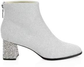 Sophia Webster Stella Glitter Leather Ankle Boots