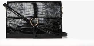 Dorothy Perkins Womens Black Ring Detail Clutch