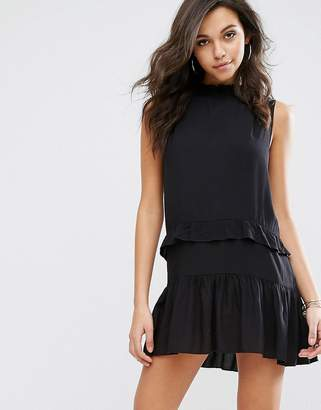 PrettyLittleThing Prettylittlething Ruffle Detail Swing Dress $38 thestylecure.com