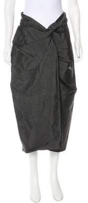 Dries Van Noten Gathered Midi Skirt