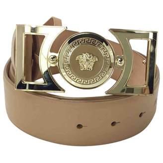 Versace Beige Leather Belts