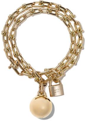 Tiffany & Co. & Co 18kt yellow gold City HardWear wrap bracelet