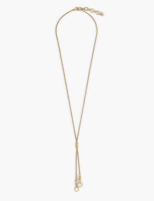 Lucky Brand PEARL LARIAT NECKLACE