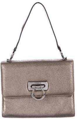 Salvatore Ferragamo Metallic Flap Handle Bag
