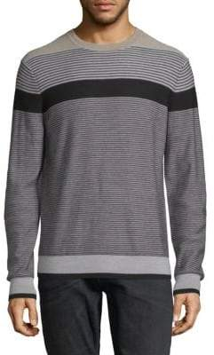 Saks Fifth Avenue Striped Merino Wool Sweater