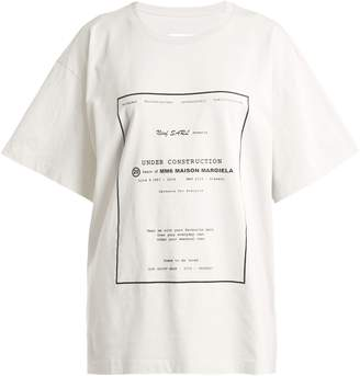 MM6 MAISON MARGIELA Logo-print cotton T-shirt