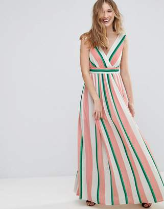 Traffic People Striped Maxi Dress