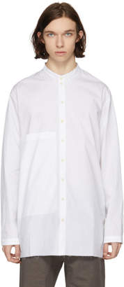 Isabel Benenato White Poplin Big Pocket Shirt