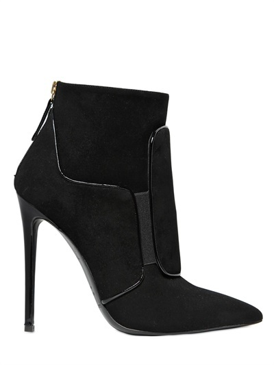 Gianmarco Lorenzi 115mm Patch Suede Ankle Boots