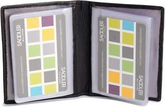 Gents SADDLER Soft Nappa Leather Tabbed Bi-Fold 24 Section Credit Card Holder