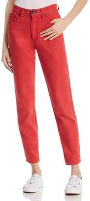 Rag & Bone Ash Straight-Leg Jeans in Bull Red