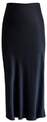 Lily Ashwell Gia Slip Skirt - Black Silk