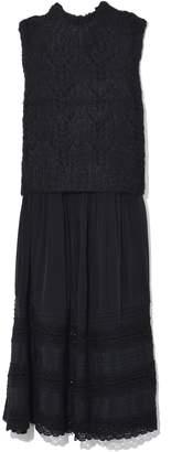Sea Ellie Lace Combo Dress in Black