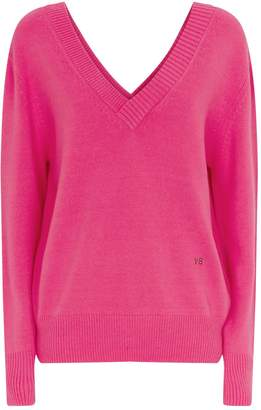 Victoria Beckham Double V-Neck Knitted Sweater
