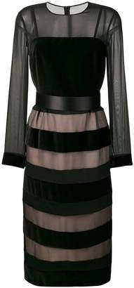 Max Mara striped panelled dress