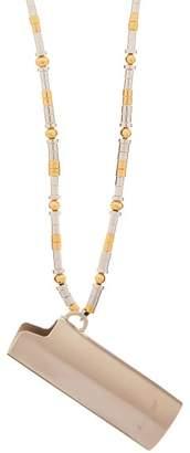 Ambush Lighter Case Cord Necklace - Mens - Silver