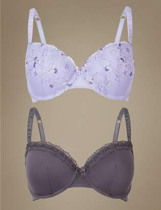 Marks and Spencer 2 Pack Padded Push-up Balcony Bras A-E