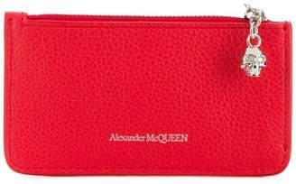Alexander McQueen logo zipped purse