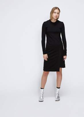 Paco Rabanne Long Sleeve Side Slit Dress
