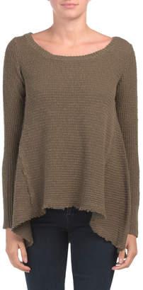 Juniors Asymmetric Tunic Sweater
