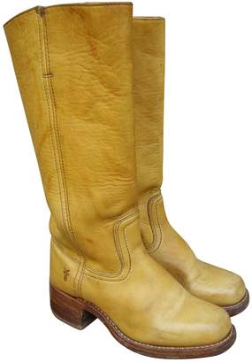 Frye Yellow Leather Boots