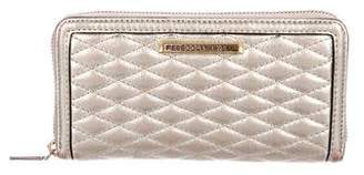 Rebecca Minkoff Metallic Leather Continental Wallet