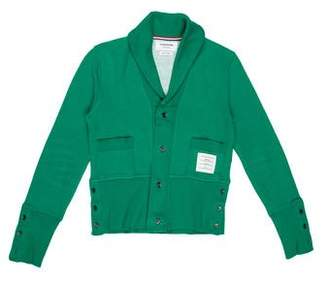 Thom Browne Shawl-Collar Button-Up Cardigan