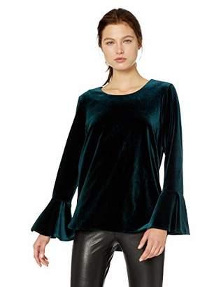 Calvin Klein Women's Velvet Bell Sleeve Blouse