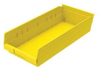 Akro-Mils 20 lb Capacity, Shelf Bin, Yellow 30158YELLO