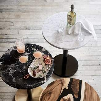 west elm White Marble Round Bistro Table - Large