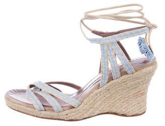 Anya Hindmarch Tie-Up Wedge Sandals