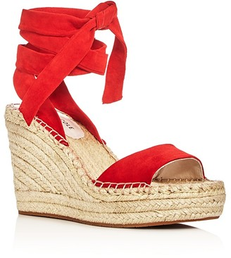 Kenneth Cole Odile Ankle Tie Espadrille Wedge Sandals $130 thestylecure.com