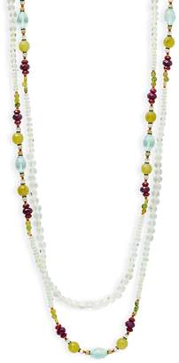Miriam Haskell Women's Semi-Precious Multi-Strands Necklace