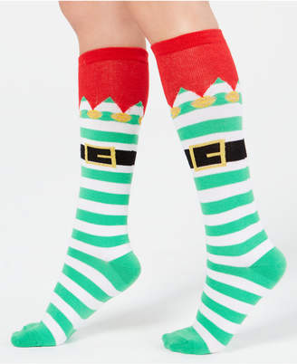 Charter Club Women Elf Stripe Knee-High Socks