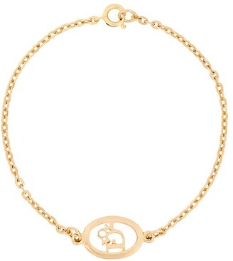 Christian Dior Pre-Owned 1990s Pre-Owned Oval Logo Bracelet