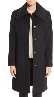 Women's Cole Haan Signature Single Breasted Wool Blend Coat $258 thestylecure.com